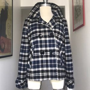 Aeropostale Plaid Peacoat Size L 😘😘